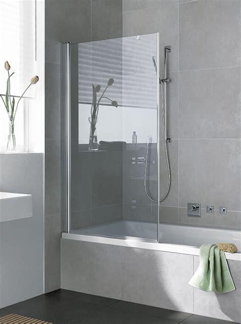 duschwand für badewanne glas aufsatz dekor badewannen