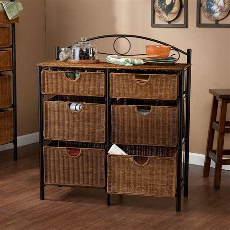wicker 4 basket cabinet wicker furniture storage drawers best storage design 2017