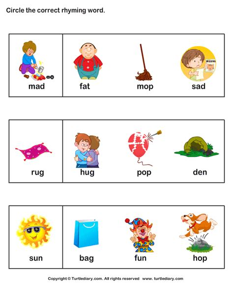 Rhyming Worksheets For Kindergarten by Snake Rhyme Words Images