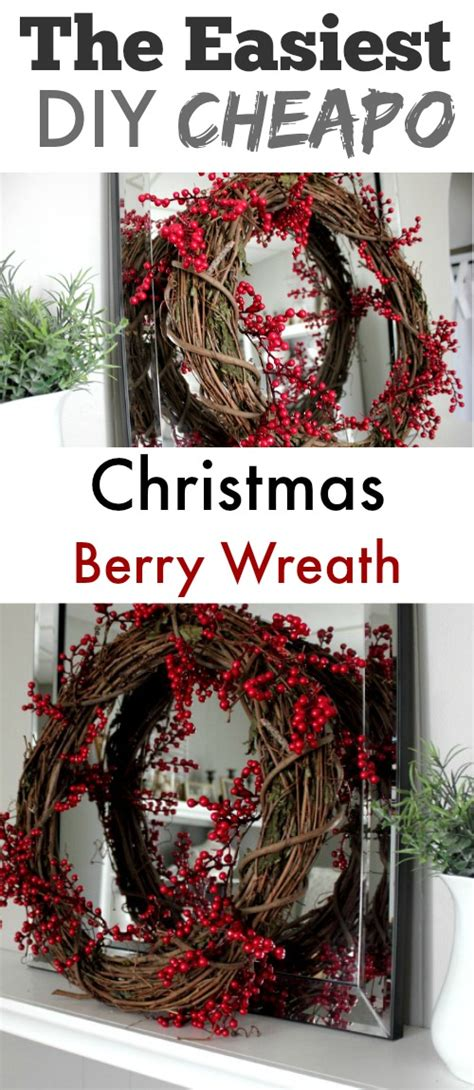 few lines on christmas diy berry wreath on the cheap the creek line house