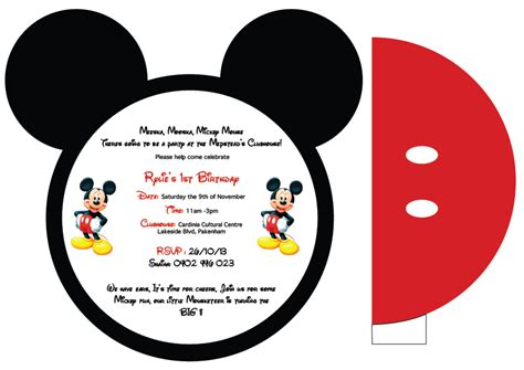 mickey mouse invitation card template 7 best images of mickey mouse printable invitations