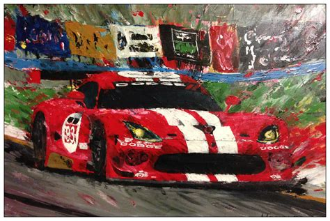 painting racing cars dodge viper agata s corner