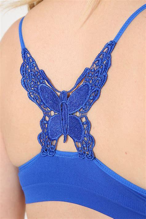 Bra Sport Butterfly womens sports bra lace crochet butterfly back