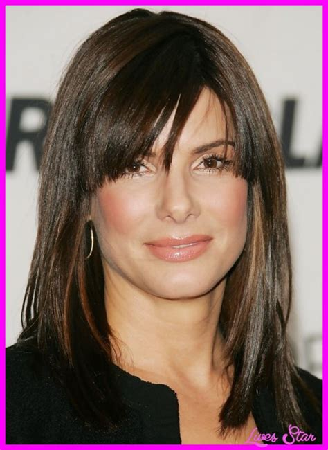 shoulder length haircuts with bangs haircuts for medium straight hair with bangs livesstar com