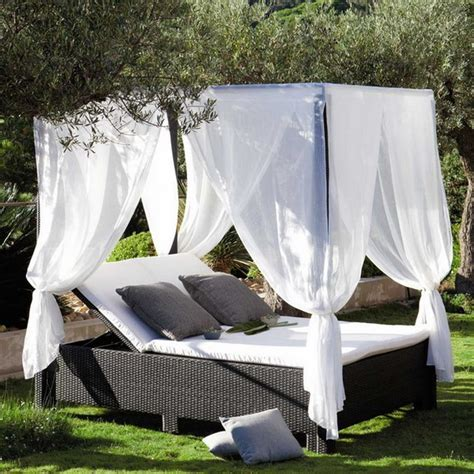 outside bed romantic canopy bed outdoors home design inside