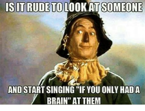 Meme Singing - is it rudeto lookat someone and start singing if you only