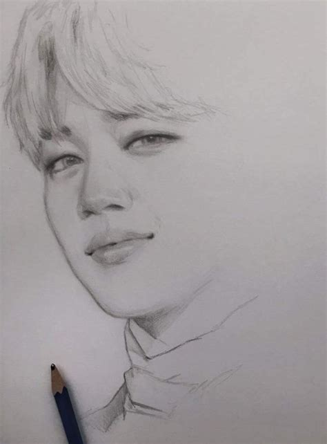 V Drawing Jimin by Park Jimin From Beyond The Kawaii And Clhotes