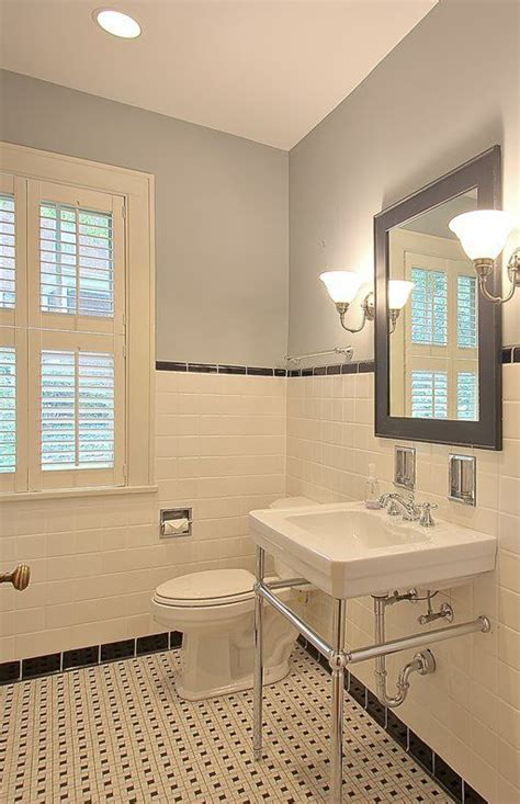 Retro Bathroom Ideas Small Bathroom Retro W Subway Tiles Home