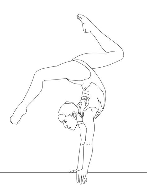 coloring pages gymnastics free printable gymnastics coloring pages for kids