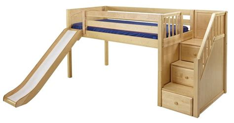 kids beds with slide maxtrix low loft bed w staircase on end slide diy kids bed ideas pinterest ps