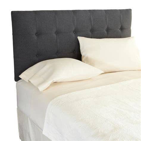 upholstered grey headboard com humble haute davenport adjustable