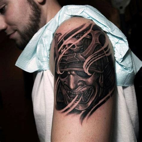 tattoo chest samurai 60 samurai helmet tattoo designs for men japanese ink ideas
