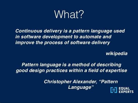 christopher alexander pattern language summary continuous delivery in the uk public sector by nuno