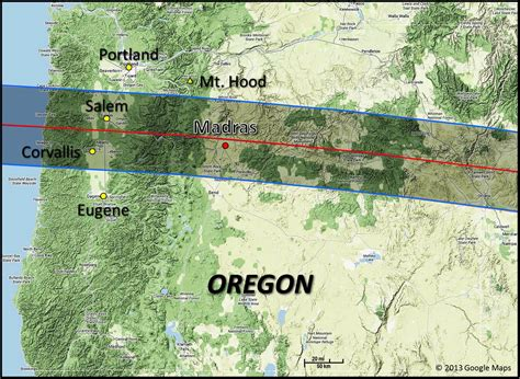 map of oregon total eclipse 2017 total solar eclipse eclipse at madras