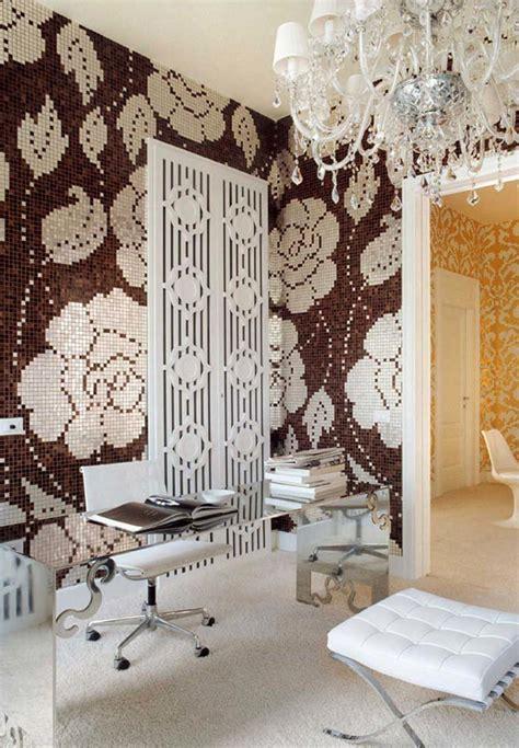 bagno mosaico marrone piastrelle bagno mosaico marrone