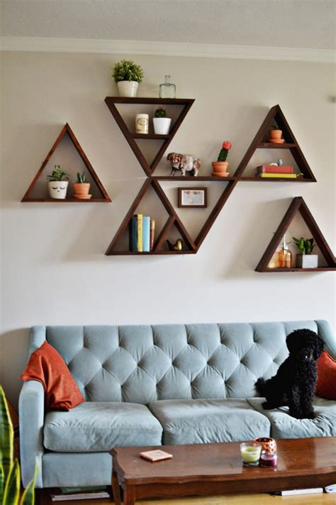 wall shelving ideas for living room diy decorating the best diy shelves