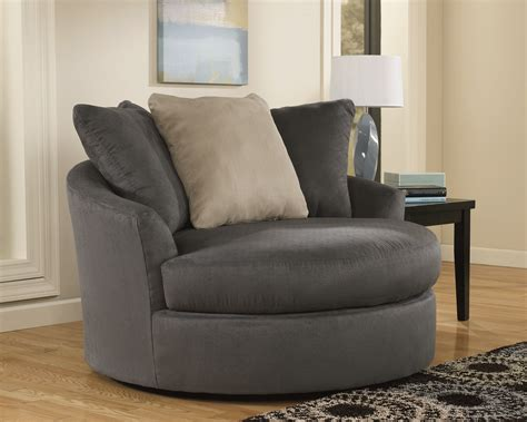 round living room chair 613 signature design by ashley mindy indigo oversized