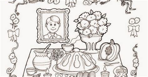 Imagenes Para Colorear Ofrendas Dia Muertos | pinto dibujos ofrenda de d 237 a de muertos para colorear