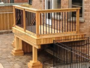 Patio Railing Small Deck Design With Decorative Rails And Well Crafted