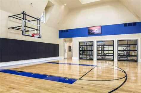 40 Personal Home Gym Design Ideas For Men Workout Rooms Home Basketball Court Design