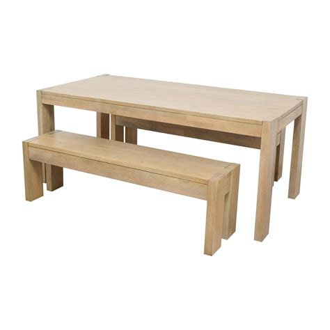 west elm dining bench 34 off west elm west elm boerum dining table and