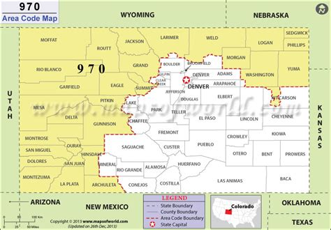 what us area code is 719 970 area code map where is 970 area code in colorado