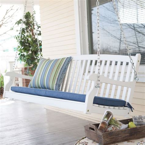 3 foot porch swing 5 ft weather resistant eco friendly white wood porch swing