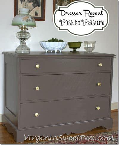 Brown Painted Dresser by Trash To Treasure Dresser Reveal Sweet Pea