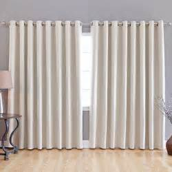 Curtains For Wide Windows Fashion Beige Wide Width Grommet Top Thermal Blackout Curtain 100 034 W X 84 034 L Ebay