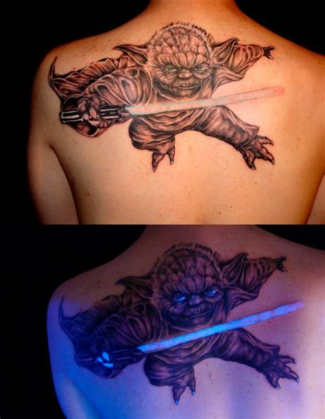 lightsaber tattoo glow in the dark weird tattoos when creativity clashes with insanity