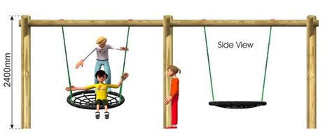 swing side nest swing playground swings action play leisure
