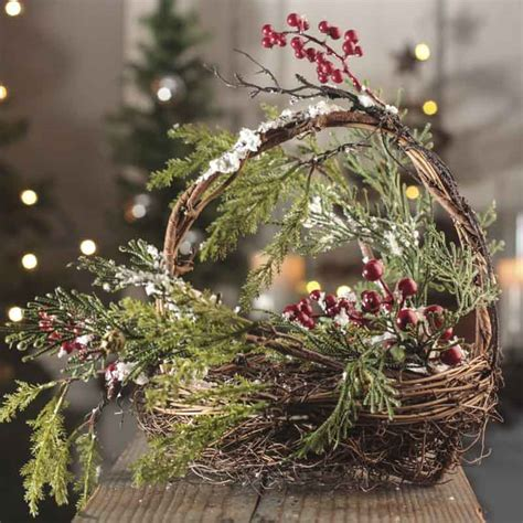 how to make a birds nest for xmas tree artificial bird nest basket florals and winter crafts