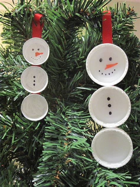 easy christmas tree ornament the bottle top snowman be