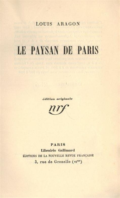 libro le paysan de paris vialibri 747590 rare books from 1926