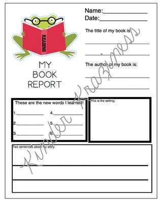 kindergarten book report 17 best images about book reports on book