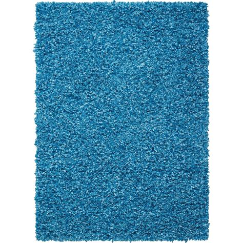 nourison aqua rug nourison overstock shag bright aqua 2 ft 3 in x 3 ft 9 in accent rug 096203 the home depot
