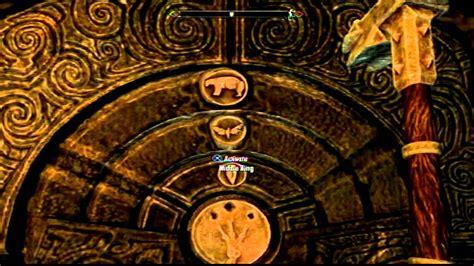 skyrim golden claw door combination