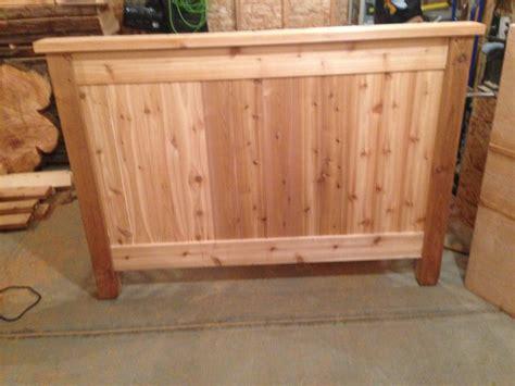 Cedar Bed Frame Cedar Bed Frame By Ben Lumberjocks Woodworking Community