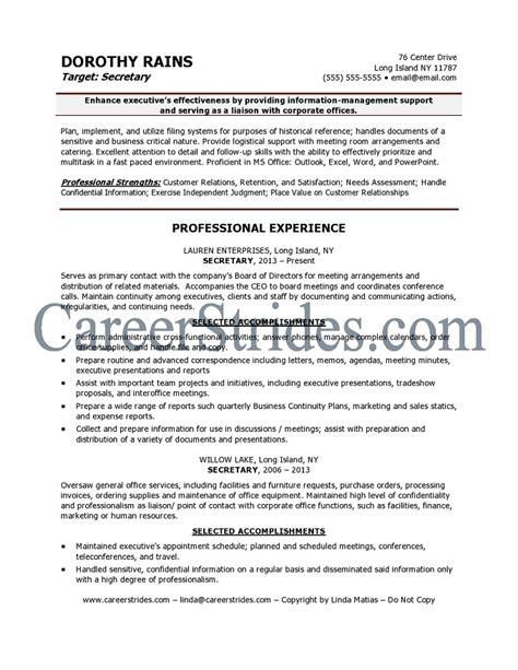 secretarial resume template resume 54 resume fresh template duties of a