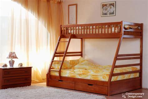 double deck bedroom design wood double decker designs
