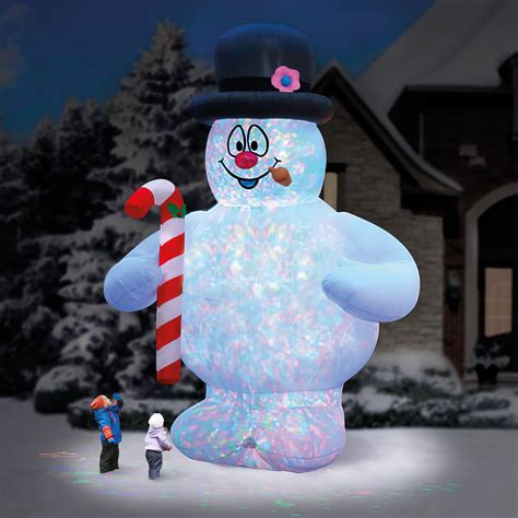 the 18 frosty the snowman lightshow hammacher schlemmer
