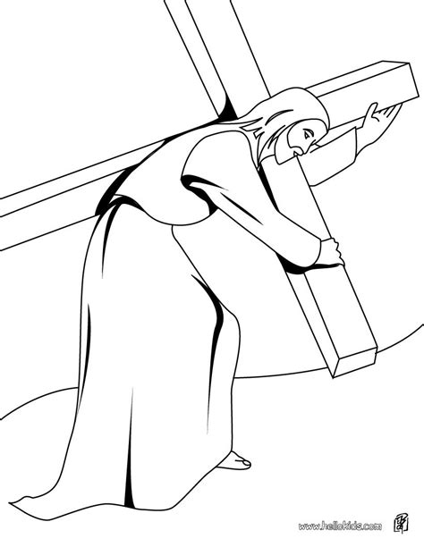 coloring pages of jesus carrying the cross jesus christ carrying the cross coloring pages hellokids com