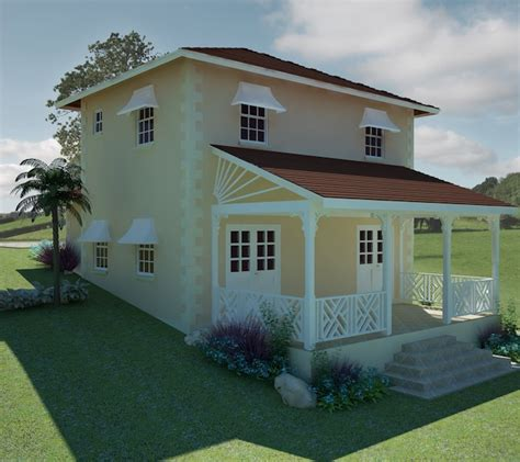thistle house design at valley view development barbados