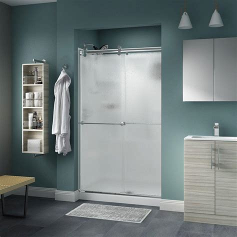Rainx For Shower Doors Delta Lyndall 48 In X 71 In Semi Frameless Contemporary Sliding Shower Door In Chrome With