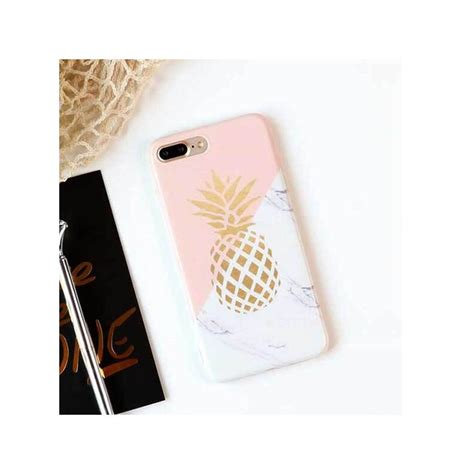 coque tpu marbre ananas pour iphone   iphone