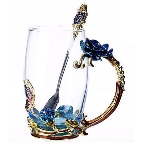 Flower Mug Spoon best 25 glass coffee mugs ideas on glass