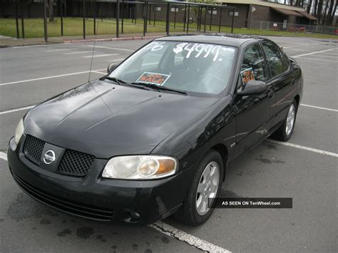 nissan sentra black 2006 nissan sentra 1 8l 4 door black special edition
