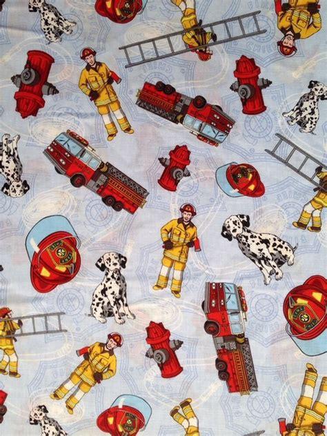 Fireman Quilt Fabric md04 fireman fighter truck dalmation cotton
