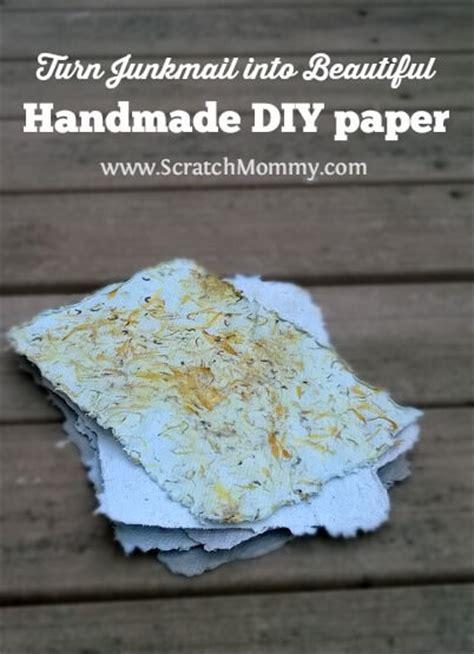 Handmade Paper Diy - tutorial turn junk mail into beautiful diy handmade paper