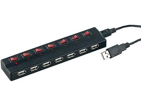 7 Port Usb2 0 Hub xystec aktiver 7 port usb2 0 hub mit einzeln schaltbaren